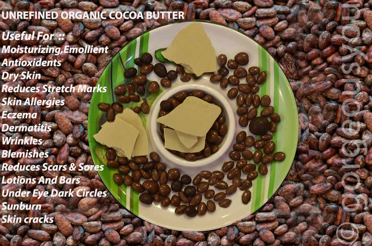 Organic Cocoa Butter Pure Raw,Unprocessed Incredible Premium Quality (100 Grams)