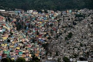 Shantytown housing in the commune of Pétionville in Port-au-Prince, Haiti