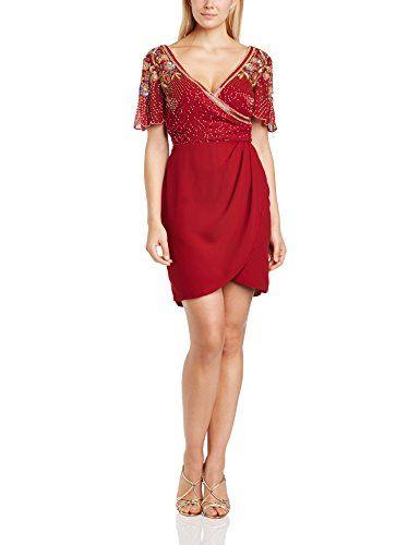 Virgos Lounge Women's Ginger Wrap Mini Cocktail Short Sleeve Dress, Red (Wine/Red), Size 6 Virgos Lounge http://www.amazon.co.uk/dp/B00LIZPB7S/ref=cm_sw_r_pi_dp_vEbHub0YM4CJK