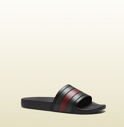 Gucci - white rubber slide sandal 308234GIB101098