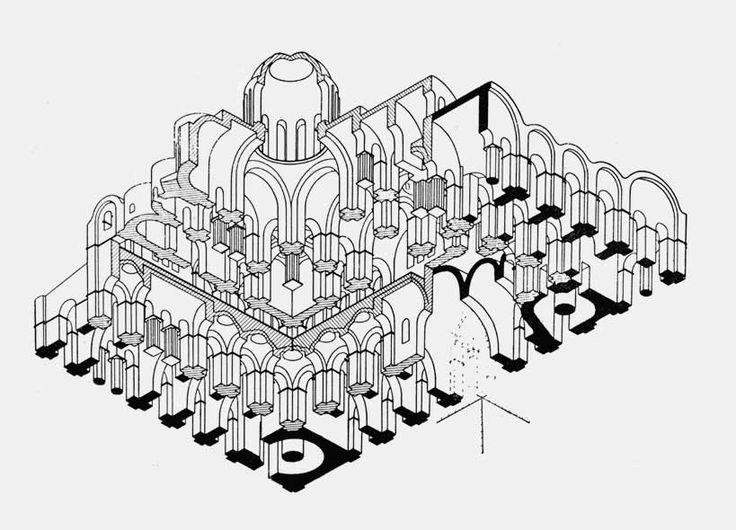 www.school.edu.ru :: Софийский собор в Киеве. 1017—1037(Проекция) Киевская Русь