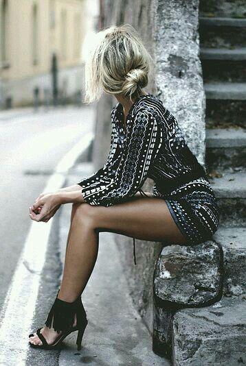 #corto #hermoso #estampado #mangas #largas