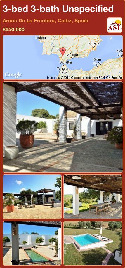 3-bed 3-bath Unspecified in Arcos De La Frontera, Cadiz, Spain ►€650,000 #PropertyForSaleInSpain