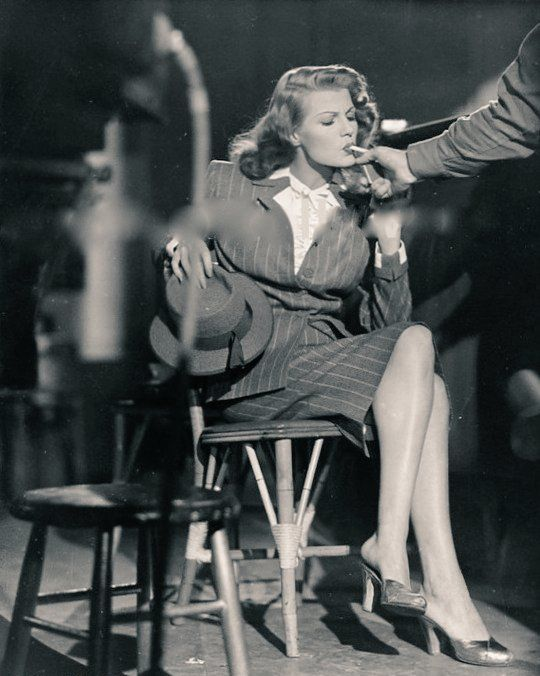 """Nobody makes up my mind for me"" - Rita Hayworth"