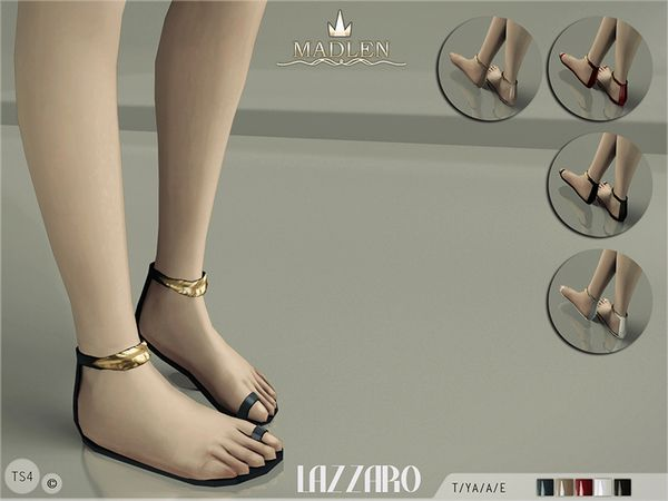The Sims Resource: Madlen Lazzaro Sandals by MJ95 • Sims 4 Downloads