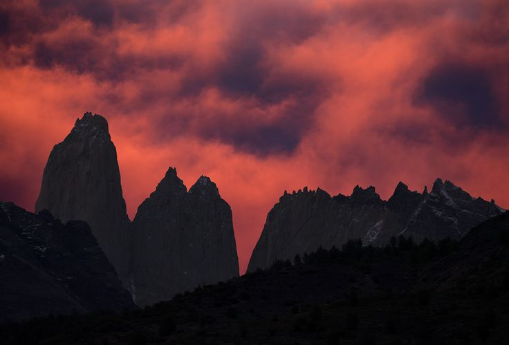 https://flic.kr/p/QwqeK5 | Chile | Chile. Sunset in Torres del Paine.