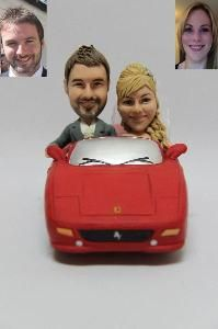 Cake Topper Of A Sat In Car Be It Your Own