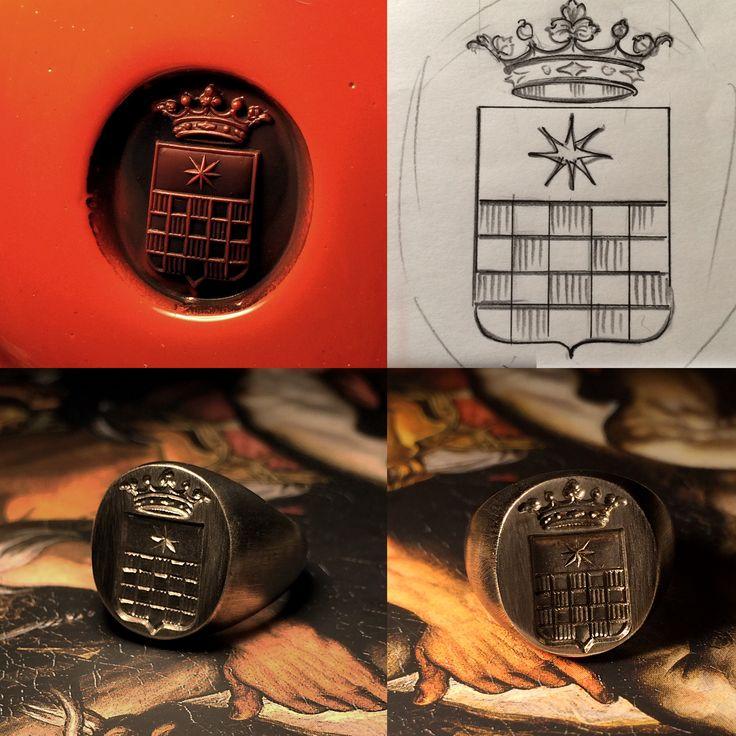 Silver signet ring #heraldry