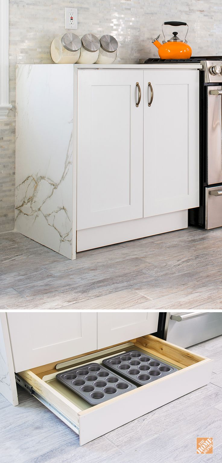 Kitchen cabinets toe kick drawers - Storage Solutions For Your Kitchen Makeover