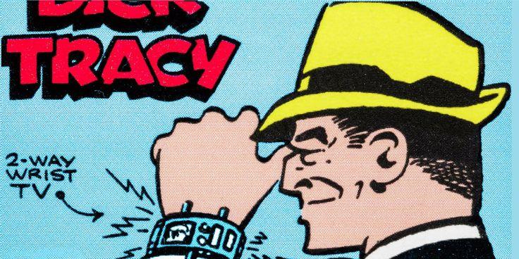 Dick Tracy tiene un reloj inteligente. - Uno de los dispositivos usados por el famoso detective de cómics desde los 30's era un reloj que funcionaba como un comunicador, el cual después evolucionó para poder tomar fotos en los 60's, algo que resulta muy similar al apple watch.
