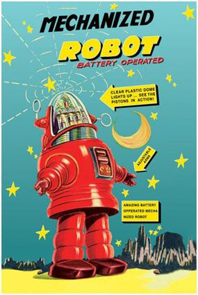 vintage robot - potential room theme :0)
