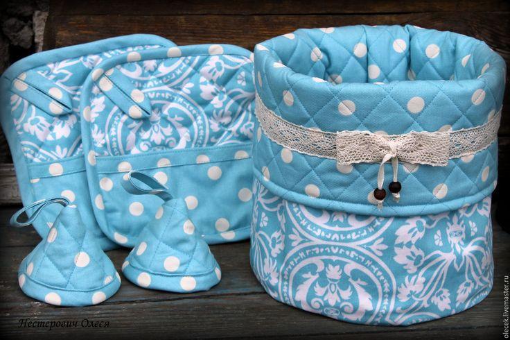 Купить Текстильная корзинка. - бирюзовый, текстиль для дома, текстильные корзинки, короб, корзинка, корзина