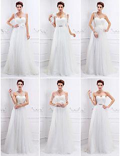 Vestido de Noiva Trapézio/Princesa Cauda Escova (Tule)