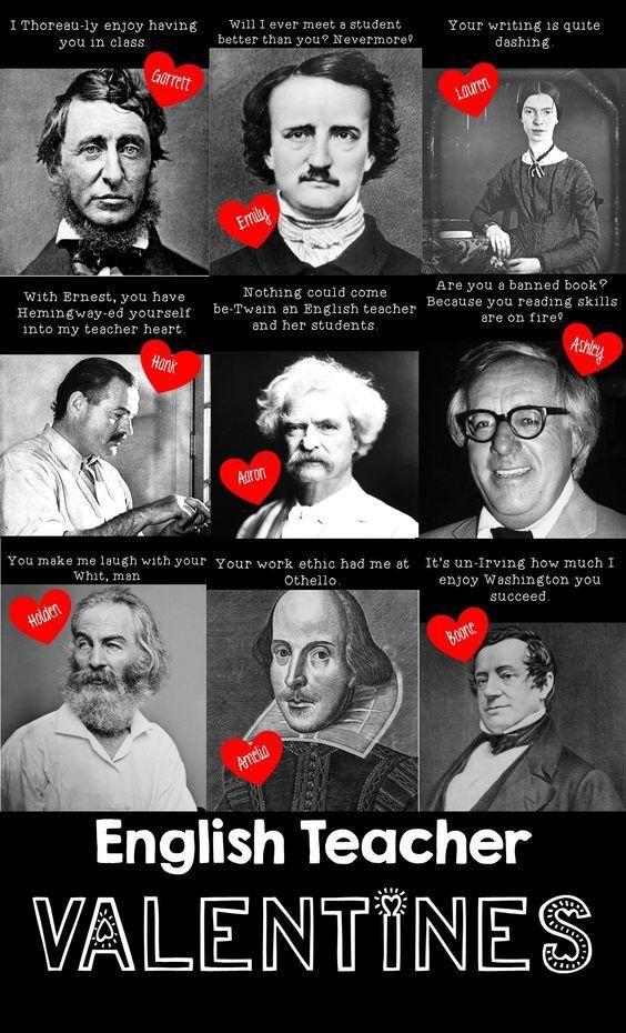 TEACHER MEME - Valentine's Day English Teacher Puns ...