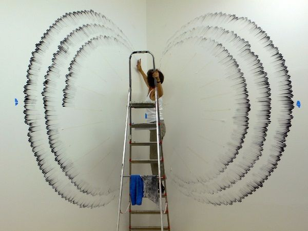 Amazing Finger Paintings on Wall by Judith Braun