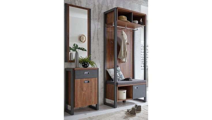 Kapstok Detroit 90 Cm Breed In Trendy Industriele Look Home