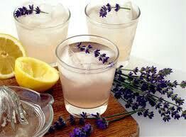 Lavender Lemonade: Ingredients 2-1/2 cups water 1 cup sugar you can also use 1/2 cup agave nectar if you prefer 2 tablespoons dried lavender flowers 2-1/2 cups cold water 1 cup lemon juice Best Results use a Meyer Lemon Ice cubes  Directions In a large saucepan, bring water and sugar to a boil. Remove from the heat; add lavender. Cover and let stand for 1 hour.  Strain, discarding lavender. Stir in cold water and lemon juice. Serve over ice.   Can also do Lime instead of Lemon Freeze this…