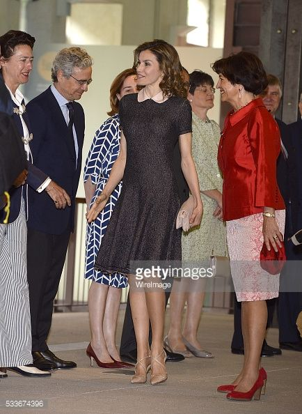 Queen Letizia Attends Exhibition at the Colegio Oficial de Arquitectos | Getty Images