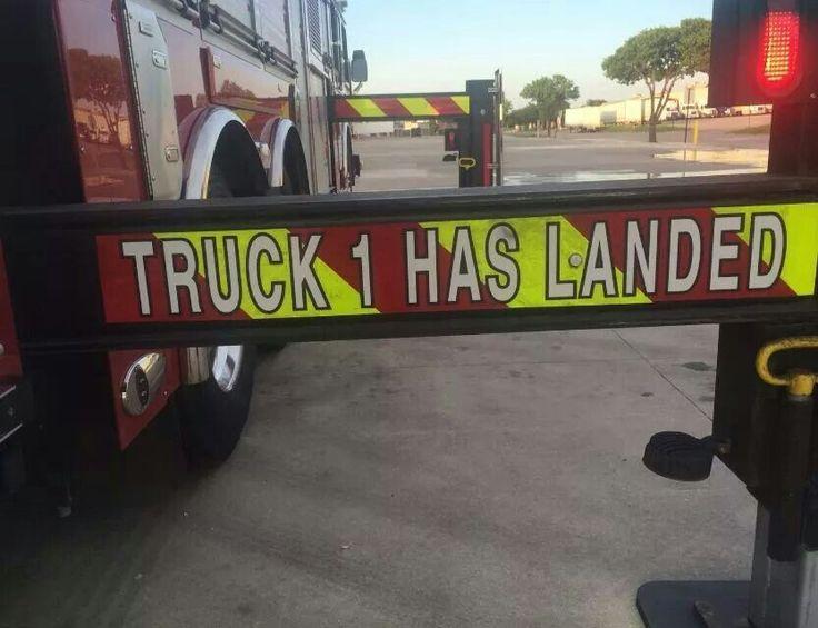 Arlington FD truck 1 has landed.... lol