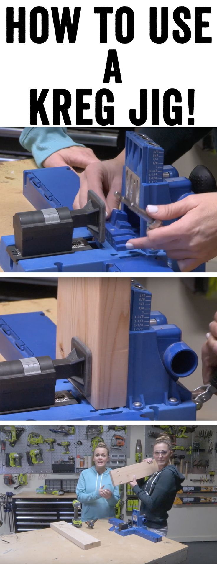 Our FAVORITE TOOL! Check out this YouTube video tutorial on how to use a Kreg Jig to build your own DIY Furniture by Shanty2Chic!