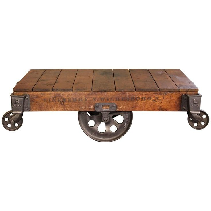 Industrial Rustic Factory Cart Coffee Table: Best 25+ Rolling Carts Ideas On Pinterest