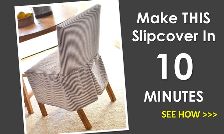 Ana White | Build a Easiest Parson Chair Slipcovers | Free and Easy DIY Project and Furniture Plans... (Browse this board for the 'Parson' DIY chair plans).