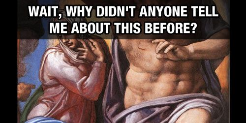 The best way to recognize the artists of paintings…lol this could have been helpful in art history class