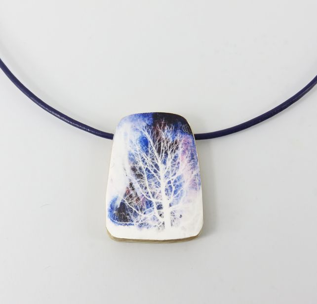 Frosted Tree Pendant £16.00
