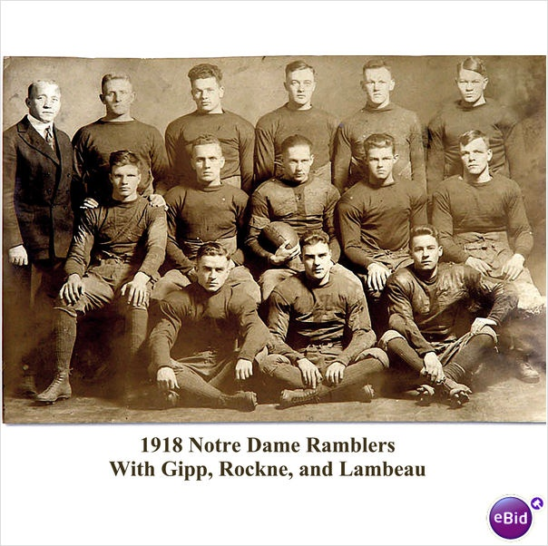 1918 Notre Dame Football Team (Lombardi and the Gipper)