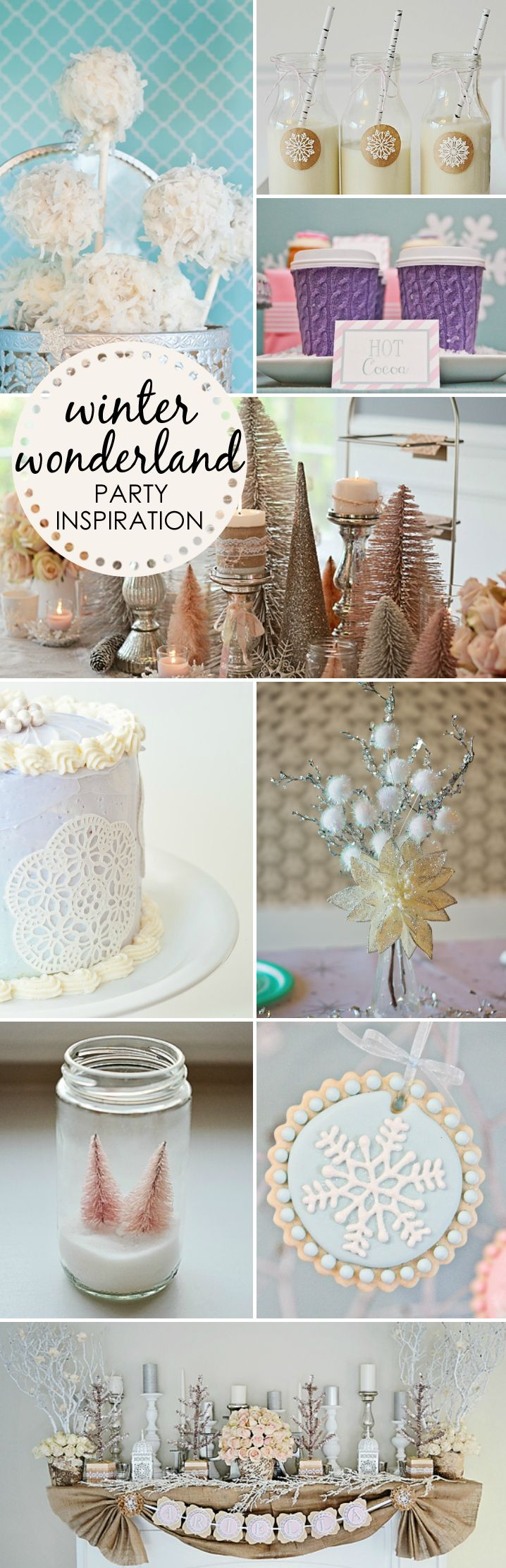 Winter Wonderland Party Ideas - from food and decor to snack and sweet treat ideas!