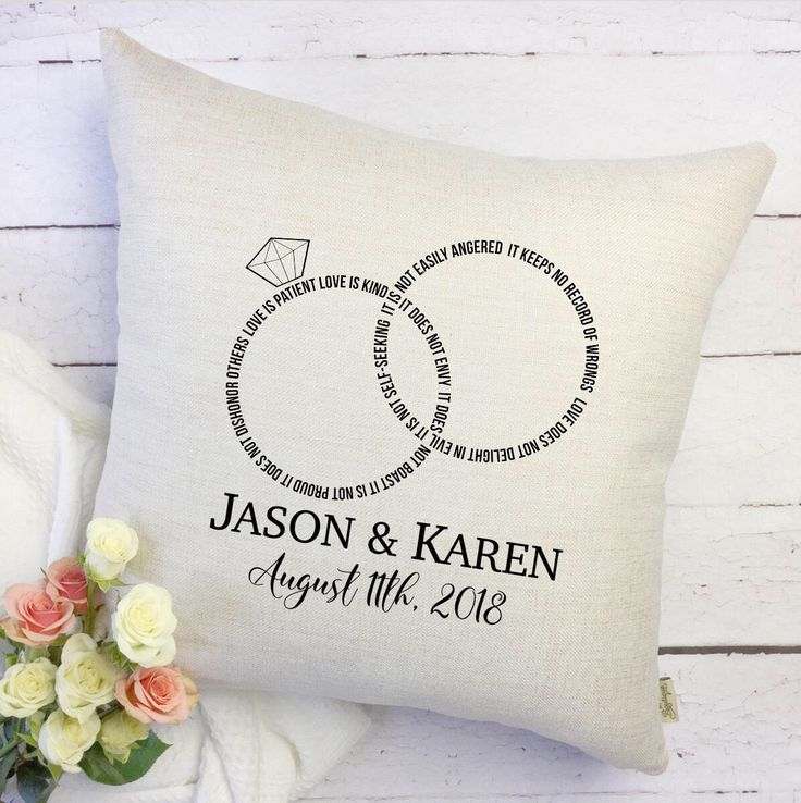 Excited to share the latest addition to my #etsy shop: Love is Patient Pillow Cover - Wedding Pillow Cover - Couples Gift - Personalized Bride and Groom Gift - Personalized Wedding Gift