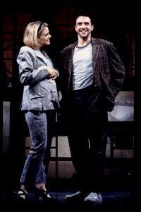 Need to see this: Amy Spanger and Raúl Esparza in the 2001 off-Broadway production of Jonathan Larson's tick, tick...BOOM!. The musical will be revived th...