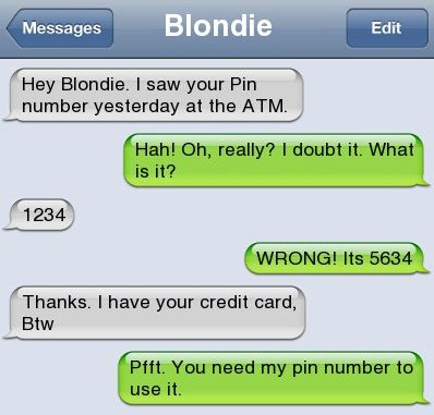 Epic text - Hey blondie  - http://jokideo.com/epic-text-hey-blondie/