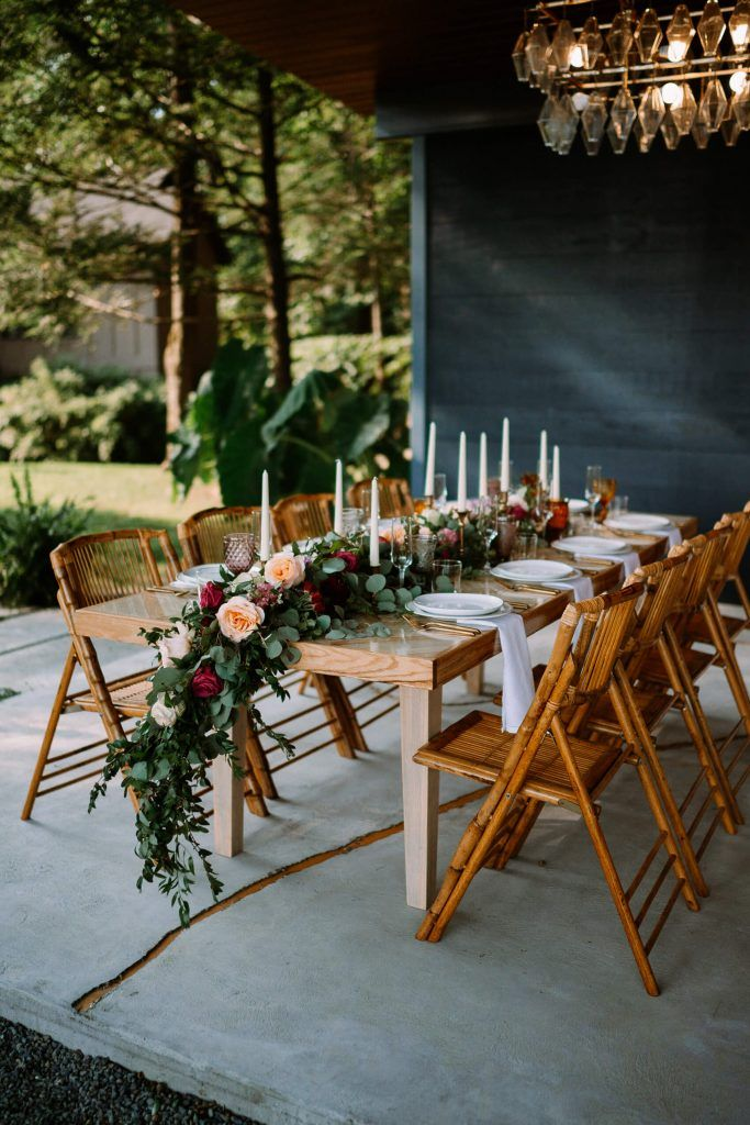Intimate Whimsical Summer Microwedding In 2020 Small Wedding Receptions Small Backyard Wedding Small Intimate Wedding
