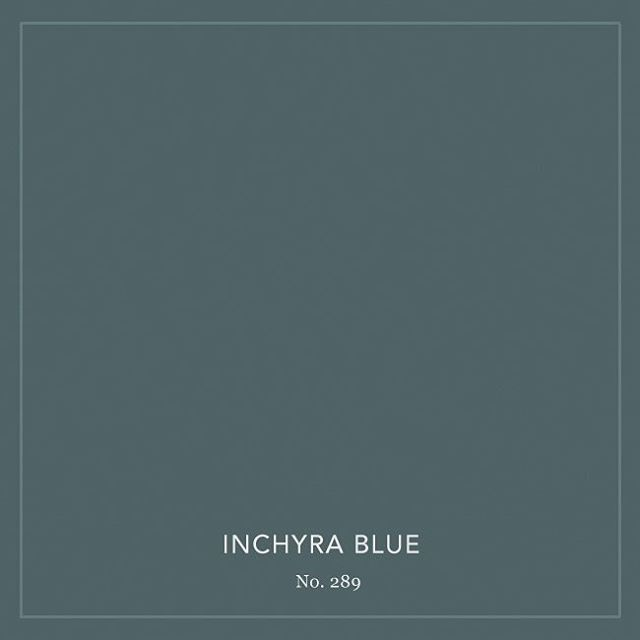 Inchyra Blue | one of 9 new absolutely beautiful colors by @farrowandball #colorcrush