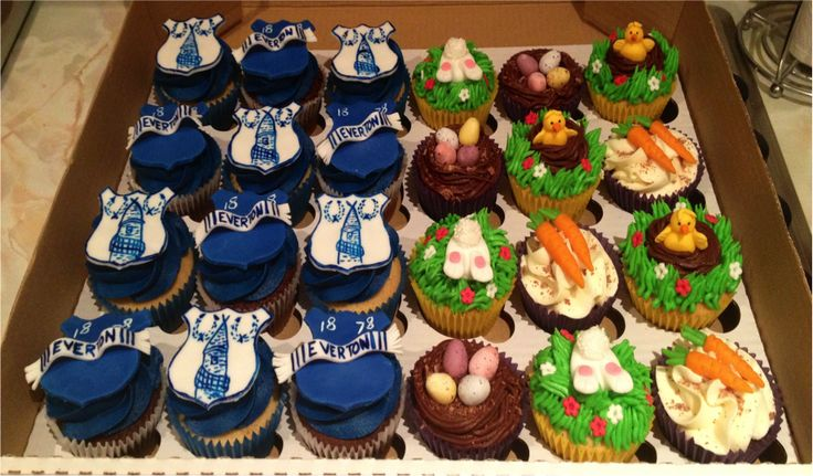 Everton FC and Easter Cupcakes