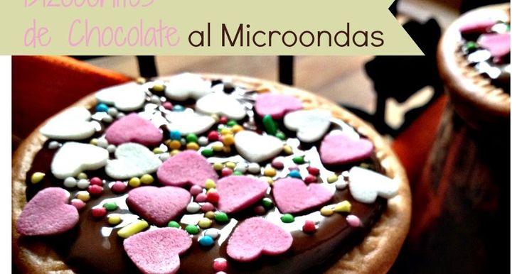 Receta de bizcochos de chocolate al microondas.