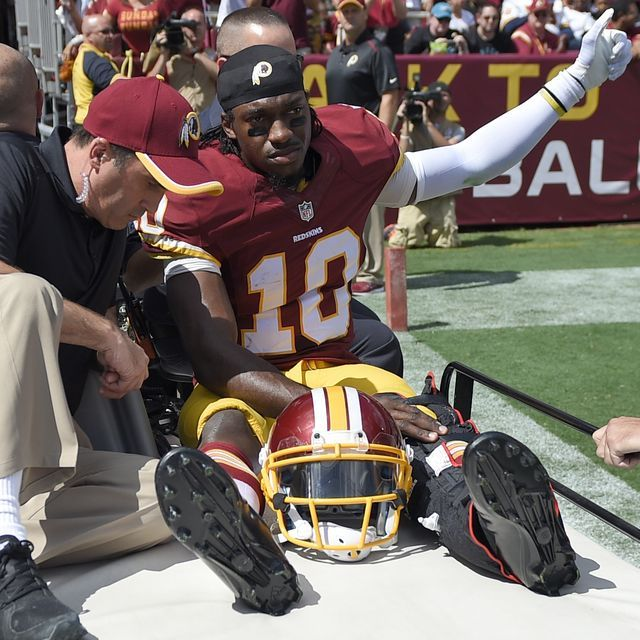 Redskins quarterback Robert Griffin III is out indefinitely with a dislocated left ankle.