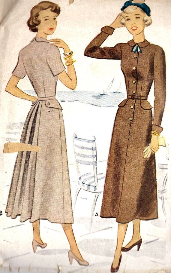 1940s Dress pattern via Etsy.