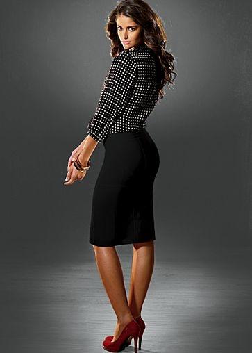 Button Back Skirt