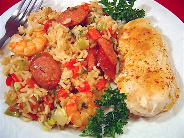 Paleo Andouille, Shrimp, and Chicken Jambalaya