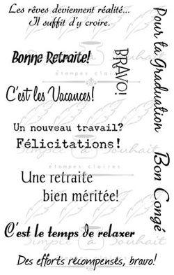 Les étampes Simple à Souhait Collection Étapes de Vie (011S) http://www.simpleasouhait.com/retraitevacances.html