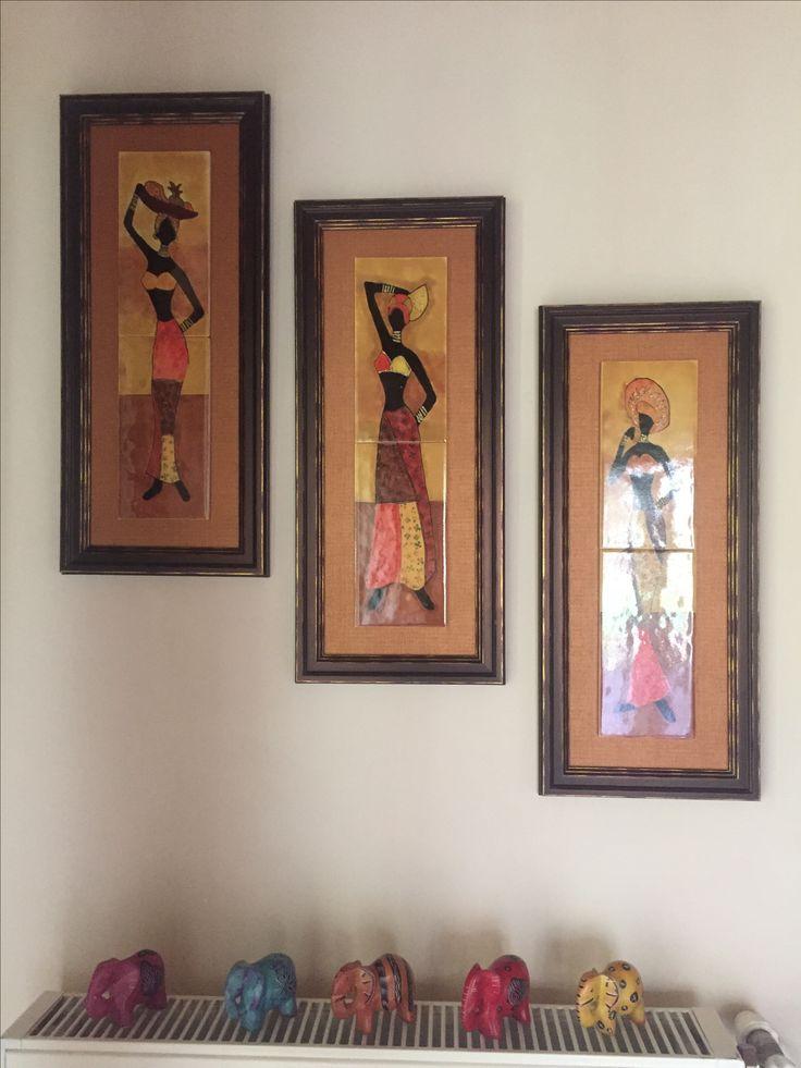 Afrikalı kadınlar çini tablom.