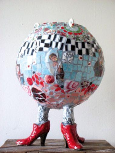 Mosaic vase by Marianne den Hartog