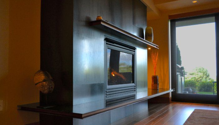 Hot Rolled Steel Fireplace Hearth And Mantel Fireplace