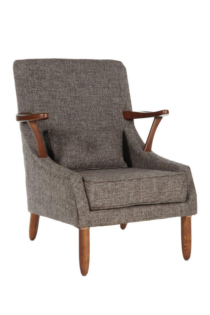 Retro modern chairs - Vejle Arm Chair Tweed Brown Great Chair Modern Armchairmodern Chairsretro