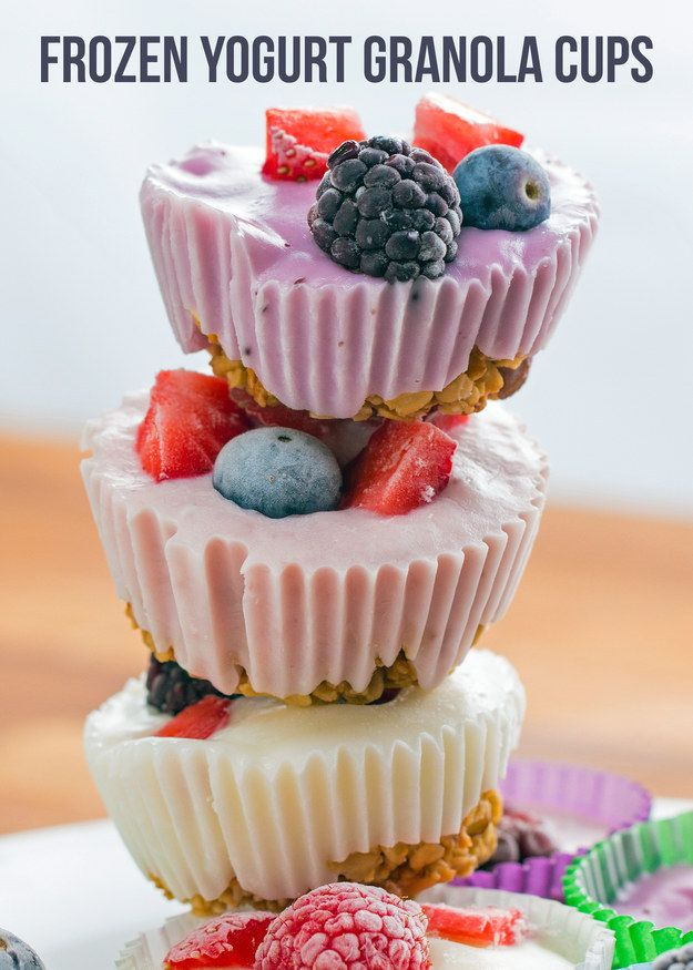 Here's An Appetizing Recipe For Frozen Yogurt Granola Cups That You Need In Your…