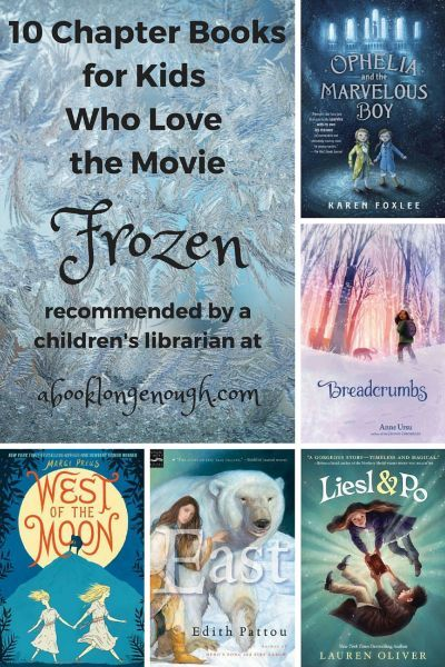 "Ten chapter books for kids ages about 8 to 12 who love the Disney movie ""Frozen."" Recommended by a children's librarian."