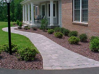 front walk landscape ideas | Front Walkway