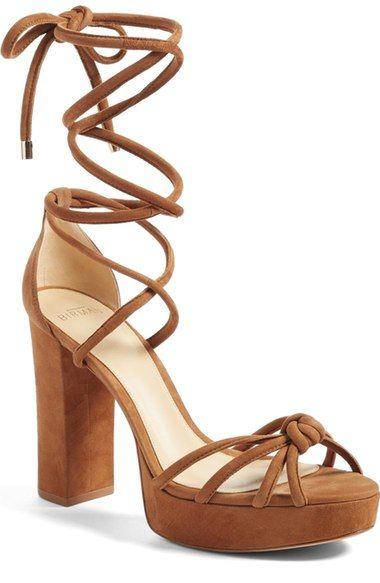 ALEXANDRE BIRMAN Janelle Ankle Tie Platform Sandal (Women). #alexandrebirman #shoes #sandals
